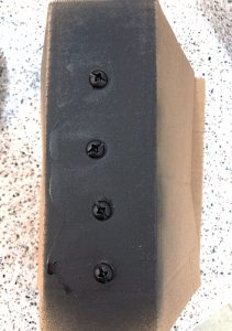 spray paint screws matte black