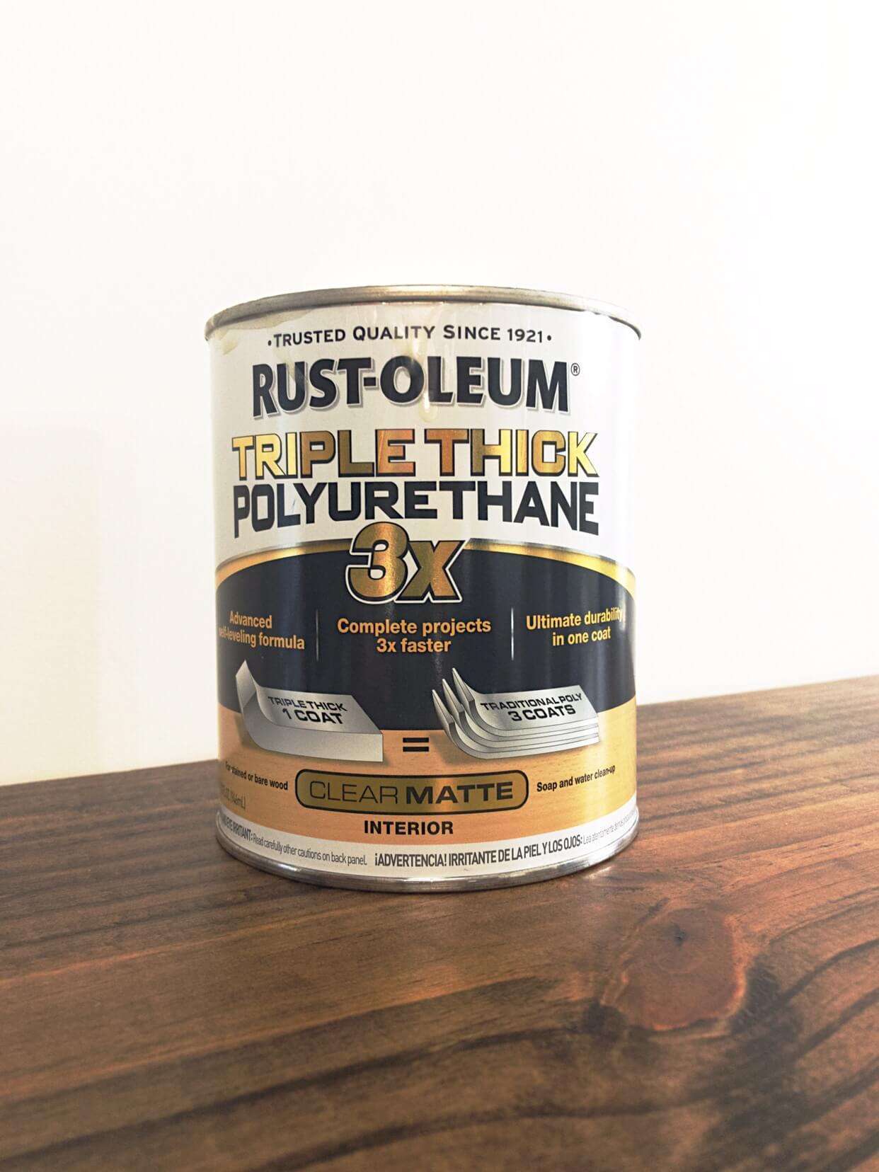 rustoleum triple thick polyurethane