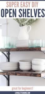 SUPER easy DIY open shelves in the kitchen via Living Letter Home