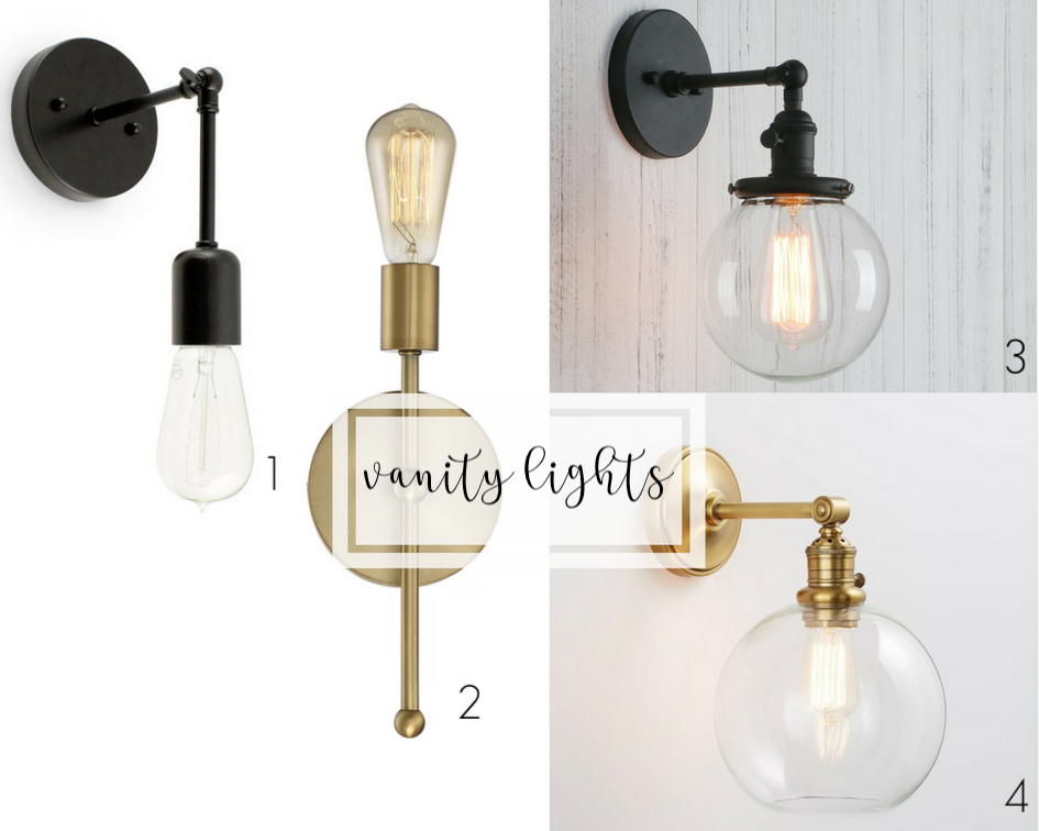 guest bathroom renovation plans | industrial farmhouse vanity lights