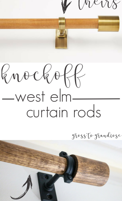 DIY Wood Curtain Rods (West Elm Inspired)