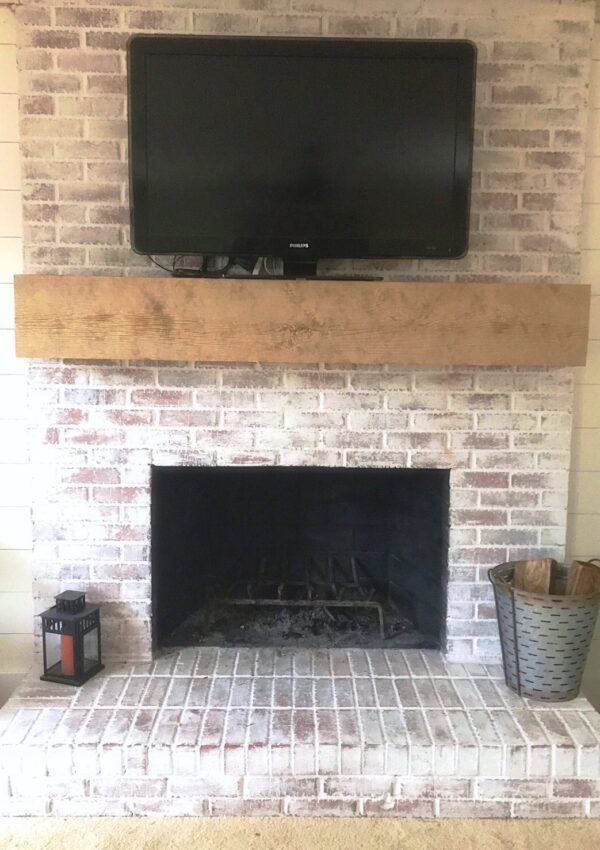 Faux Wood Beam Mantle