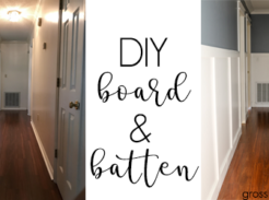 Create your own board and batten on the cheap #DIY #boardandbatten