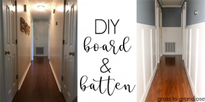 Create your own board and batten on the cheap #DIY #boardandbatten