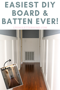 EASIEST faux board and batten tutorial