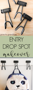 Just because your entry landing space may be small doesn't mean it can't be functional! #entrydropspot #DIY