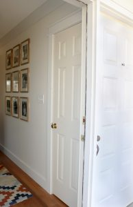Double doors look like our entry is large, but one of these doors is not like the other! #DIY #entrydropspot