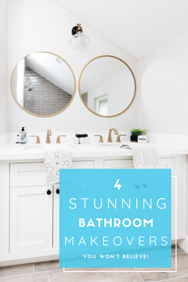 4 stunning bathroom remodels on a budget #bathroomremodel #bathroomrenovation #bathroomdesignideas