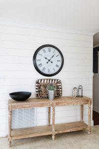shiplap wall in kitchen
