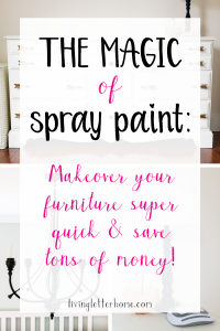 Spray paint projects you can do in a day! You won't believe the change you can make