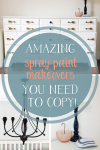 Spray paint can breathe new life into a piece of furniture or decor. Come see some super easy spray paint projects for your own home!