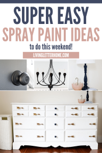 Super easy spray paint ideas to do this weekend graphic