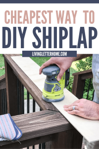 Get a brand new feature wall with shiplap in a couple hours on a weekend! DIY shiplap wall tutorial via Living Letter Home