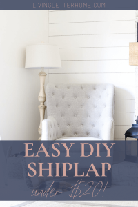 $20 DIY!! Easiest method to DIY install a shiplap wall