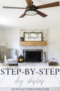 Step by step shiplap tutorial