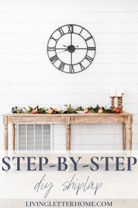 Cheap and easy DIY faux shiplap tutorial