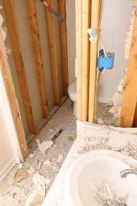 One Room Challenge Week One of our guest bathroom reno!