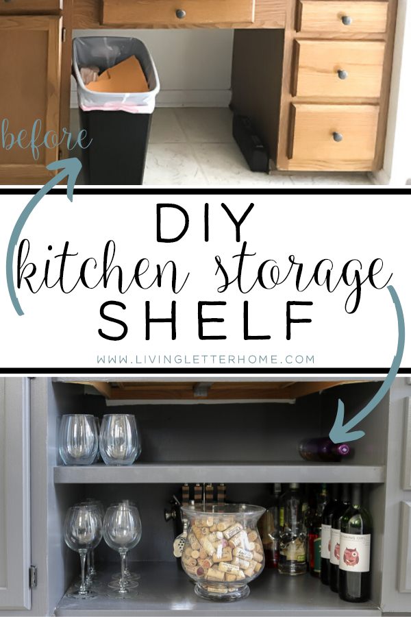 DIY kitchen shelf #kitchenstorage #kitchenshelves