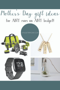 A short, simple list of Mother's Day Gift Ideas for any mama on any budget! #mothersdaygift #giftideas