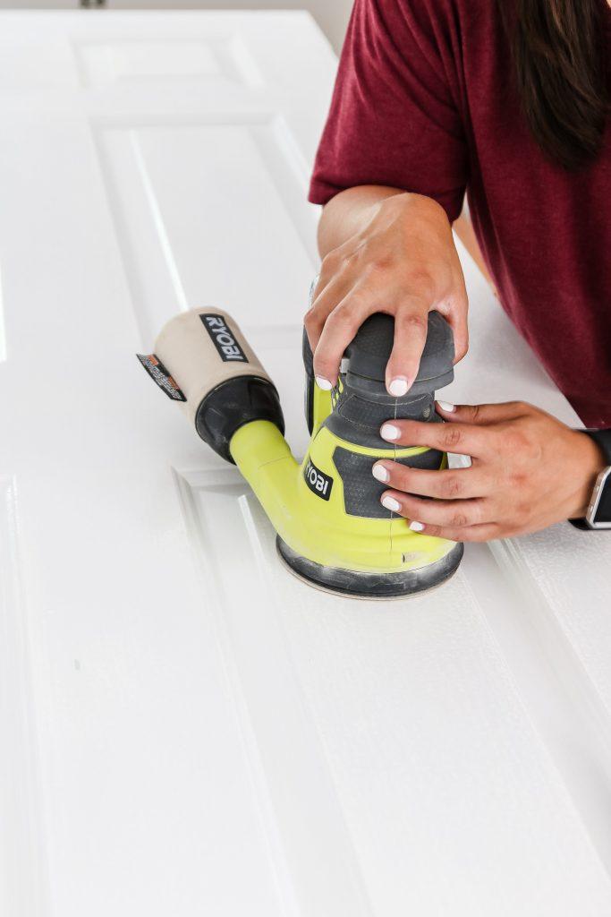 sanding doors before you paint