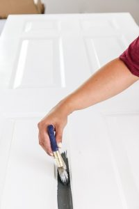 Painting your interior doors is a cheap, quick project and adds so much to the inside of your home!