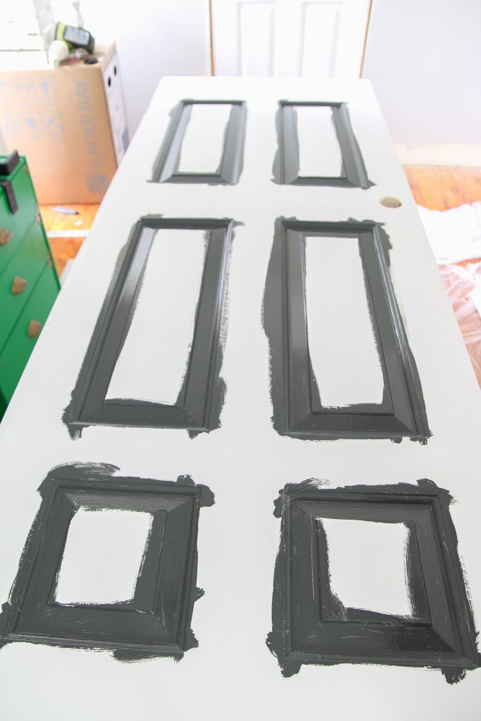 Painting your interior doors is a cheap, quick project and adds so much to the inside of your home! #grosstograndiose