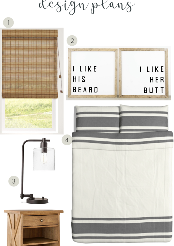 Master Bedroom BEFORE and Design Mood Board