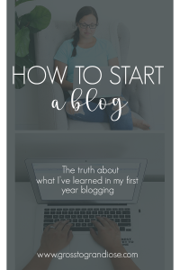 Have you ever wanted to start a blog but want to know what it's really like? Here's a chance to see what it's been like in the first full year of blogging, what to truly expect, and some helpful tips I've learned along the way #grosstograndiose #blogger #homeblogger