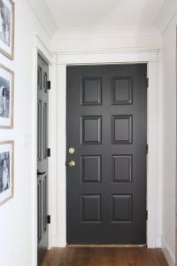 Painted interior doors Sherwin Williams Iron Ore