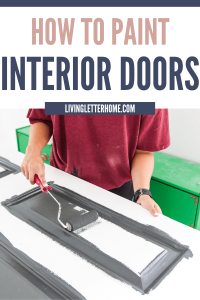 How to paint interior doors like a pro! via Living Letter Home