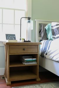 For me styling a nightstand or dresser can be intimidating, but this is helpful for me to see how easy and budget friendly a styled nightstand can be #masterbedroom #stylingtips #stylednightstand #grosstograndiose