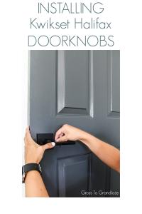 Kwikset Halifax Knobs #kwikset #doorhardware #grosstograndiose #interiordoorhandles