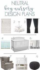 Simple color scheme for a boy or gender neutral nursery #boynursery #nursery #gendernetural #genderneutralnursery #grosstograndiose #nurserydesign