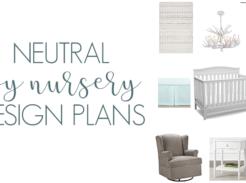 Simple color scheme for a boy or gender neutral nursery design inspiration #boynursery #nursery #gendernetural #genderneutralnursery #grosstograndiose #nurserydesign