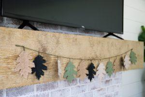 Easy fall mantle decor #DIY #budget #falldecor #fireplacedecor #grosstograndiose