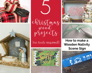5 easy projects to give your Christmas decor a rustic DIY touch without having to use any power tools! #christmasdecor #rusticchristmas
