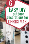 Bring some Christmas spirit to your outdoors with these 6 easy DIY outdoor Christmas decorations! via Living Letter Home