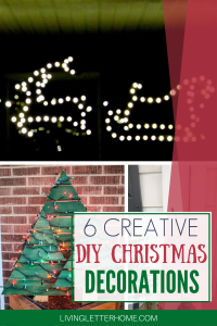 6 SUPER creative ideas for classy DIY outdoor DIY Christmas decorations via Living Letter Home