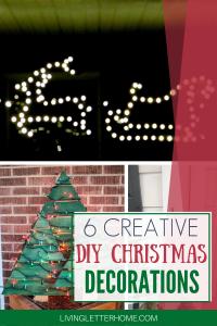 6 SUPER creative ideas for classy DIY outdoor DIY Christmas decorations via Living Letter Home