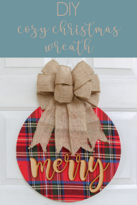You can make this wreath for super cheap and add a nice warmth to your front door this Christmas #christmaswreath #DIY #christmtasdecor #doordecor #wreath