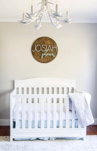 gender neutral nursery for boy design with sherwin williams agreeable gray walls