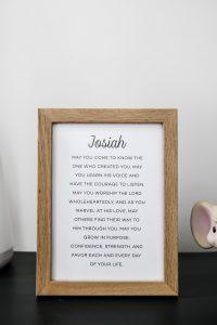 Josiah print poem