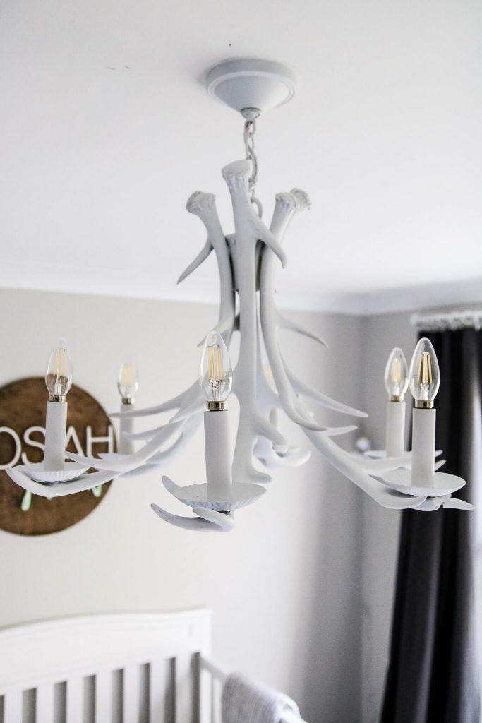 white antler chandelier