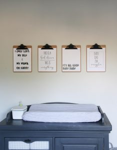 rap lyric nursery printable art with sherwin Williams agreeable gray walls