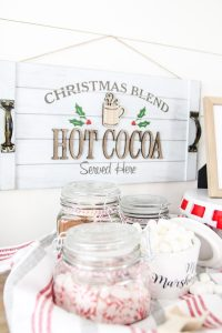 How to set up your own cocoa bar and add a fun printable for free! #livingletterhome #freeprintable #cocoabar