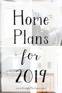 Sharing what we are planning to renovate on a budget in our house in 2019 so come check it out to see if we're crazy or not! #livingletterhome #homerenoplans #budgetremodelplans #designonadime