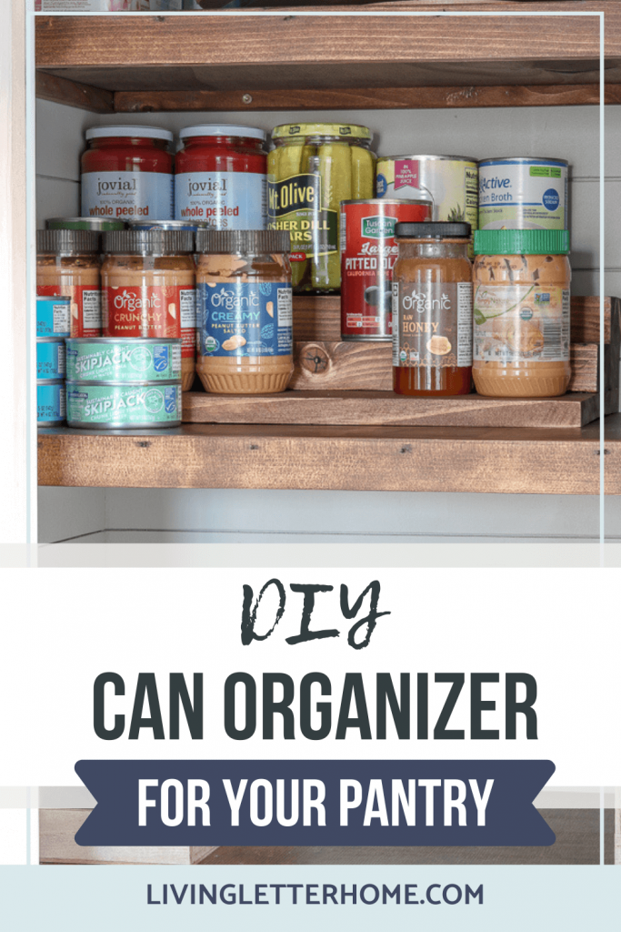 DIY can organizer for your pantry graphic