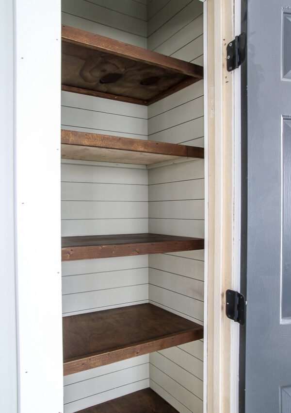 farmhouse pantry shelving