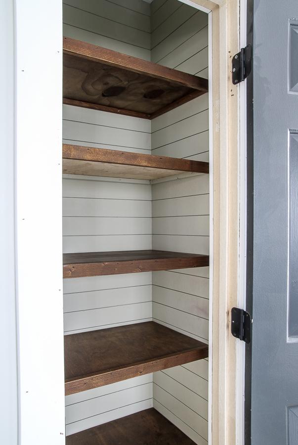 farmhouse pantry shelving