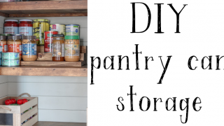 DIY Pantry Can Storage